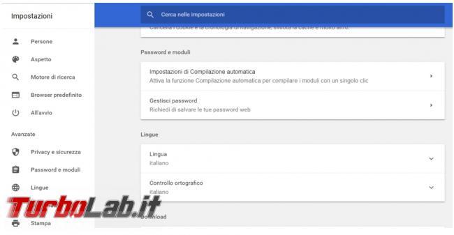 Come impedire memorizzazione password browser web ed eliminare quelle già presenti (Chrome, Firefox, Edge, Opera)