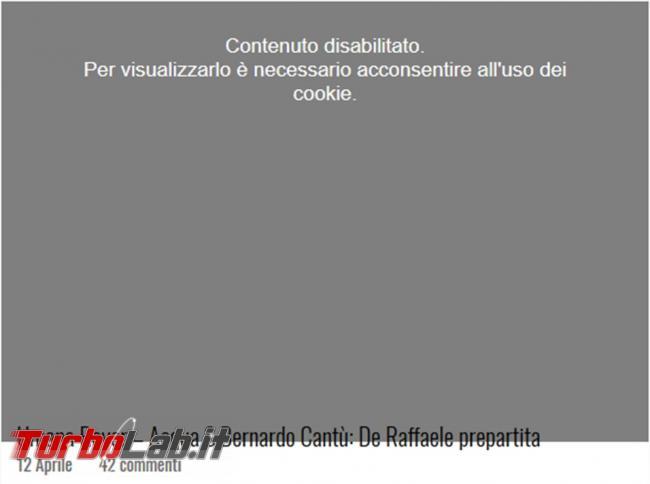 Come impedire visualizzazione banner l'accettazione cookie tutti siti