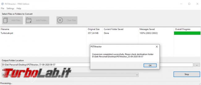 Come importare archivi PST posta Outlook Thunderbird
