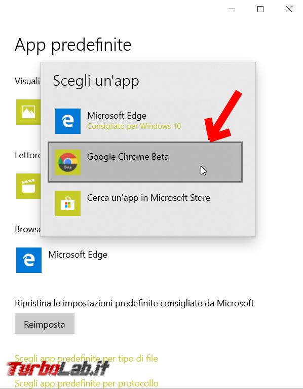 Come impostare Google Chrome come browser predefinito Windows 10 - FrShot_1570020176