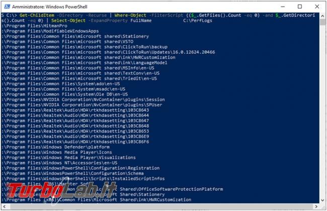 Come individuare rimuovere cartelle vuote sistema operativo