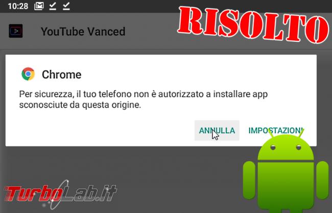 """Come installare apk Android 10: sbloccare risolvere errore """" sicurezza, telefono non è autorizzato installare app sconosciute questa origine"""" - android 10 installazione apk"""