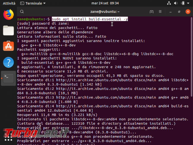 Come installare build-essential Ubuntu 20.04 senza connessione Internet (PC offline)