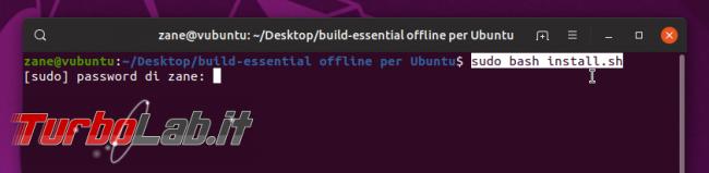 Come installare build-essential Ubuntu 20.04 senza connessione Internet (PC offline)