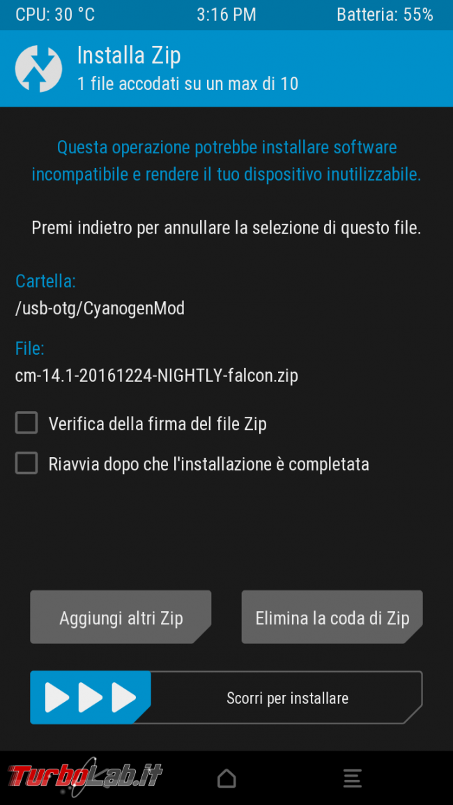 Come installare / flashare LineageOS, OmniROM, Resurrection Remix ed altre custom ROM smartphone Android: guida completa italiano (Motorola, HTC, LG, Samsung, OnePlus, Huawei, Honor, Lenovo) - Screenshot_2016-12-25-15-16-35