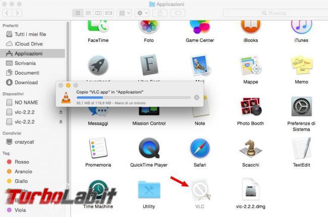 Come installare programma Mac OS X partendo file Dmg