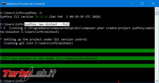 Come installare Symfony 5 Windows 10: video-Guida Definitiva (PHP, Git, Composer, MySQL) - zShotVM_1582471068