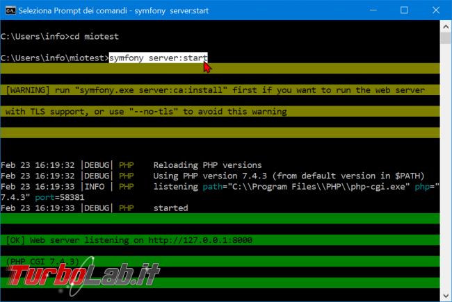 Come installare Symfony 5 Windows 10: video-Guida Definitiva (PHP, Git, Composer, MySQL) - zShotVM_1582471217
