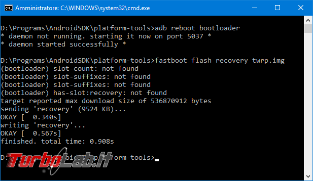 Come installare TWRP smartphone Android: guida facile italiano - fastboot flash recovery twrp