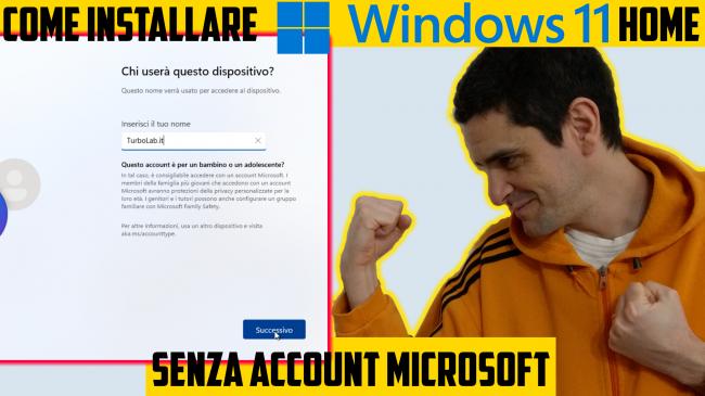 Come installare Windows 11 Home / Pro senza account Microsoft, utilizzando account offline (account locale) (video) - windows 11 home senza account microsoft spotlight