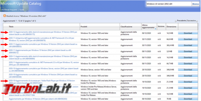 Come integrare aggiornamenti Windows 10 immagine ISO