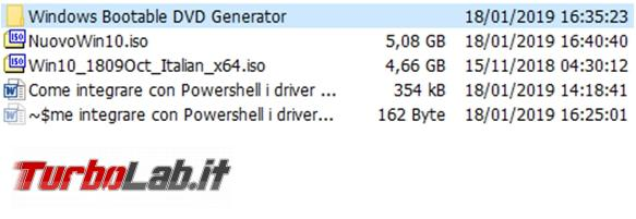 Come integrare driver mancanti disco d'installazione Windows 10 Powershell