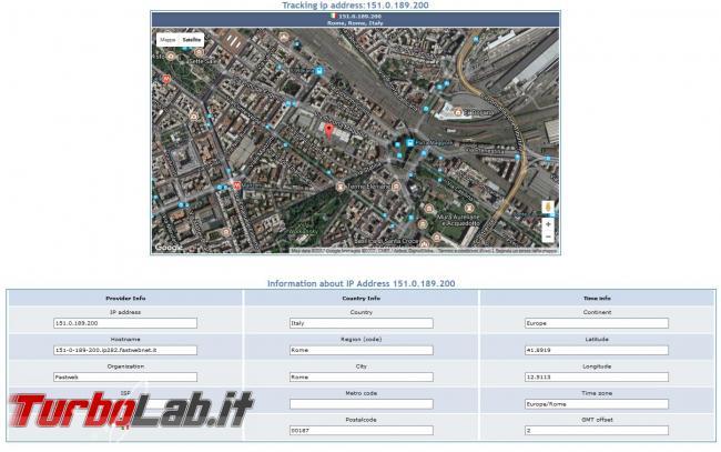 Come localizzare geograficamente indirizzo IP