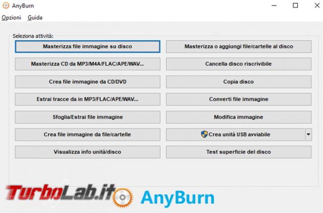 Come modificare immagine ISO AnyBurn