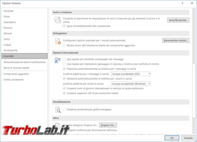 Come modificare tempo dell'invio/ricezione automatica mail Outlook