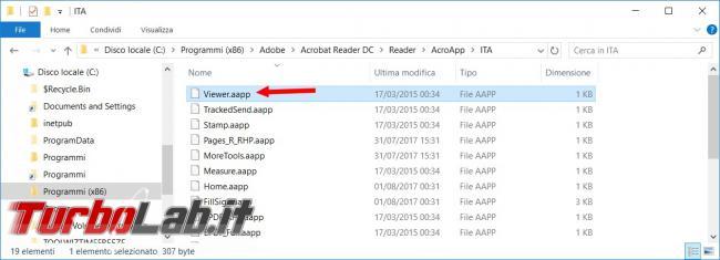 Come nascondere ed eliminare sempre barra strumenti Adobe Acrobat Reader DC