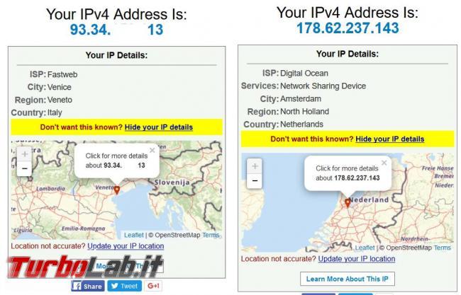 Come nascondere indirizzo IP reale poter accedere contenuti siti non disponibili l'Italia