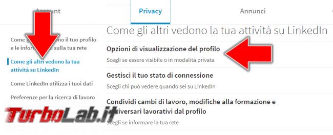 Come navigare LinkedIn privato (guida) - Annotazione 2019-04-27 174335