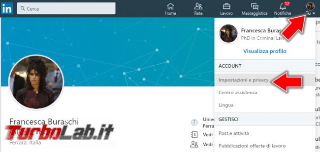 Come navigare LinkedIn privato (guida) - Annotazione 2019-04-27 180943