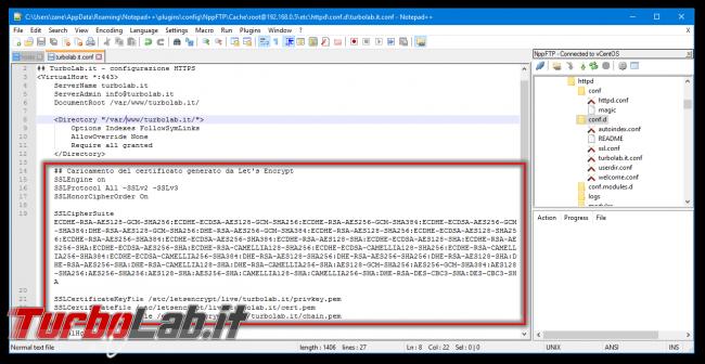 "Come ottenere certificato HTTPS (SSL/TLS) gratis: Grande Guida Let's Encrypt Linux CentOS/Ubuntu (rating SSL Labs: ""+"") - apache SSLCertificateFile SSLCipherSuite"