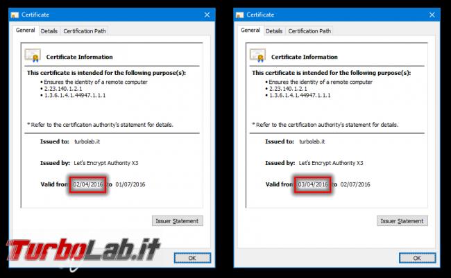 "Come ottenere certificato HTTPS (SSL/TLS) gratis: Grande Guida Let's Encrypt Linux CentOS/Ubuntu (rating SSL Labs: ""+"") - certificato https ssl rinnovato"