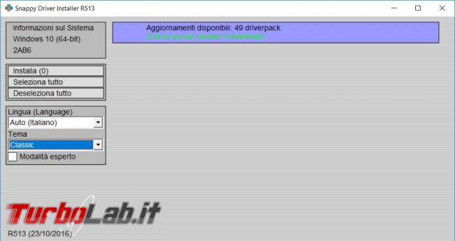 Come ottenere tutti driver più aggiornati Snappy Driver Installer