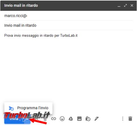 Come pianificare l'orario invio mail Gmail