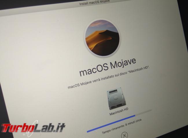 Come preparare Mac / MacBook vendita passaggio nuovo proprietario (cancellazione dati, reset macOS) - PHO_20190908_195317