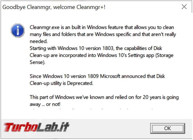 Come pulire disco fisso/SSD Windows 10 Cleanmgr+