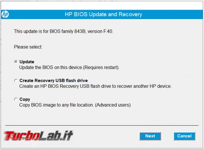 Come quando aggiornare BIOS/UEFI computer HP