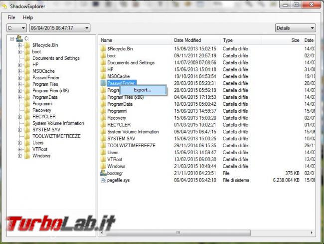 Come recuperare file importanti punti ripristino Windows