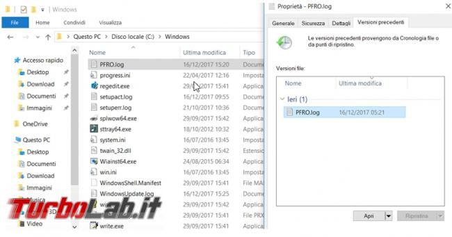Come recuperare file Shadow copies Windows (Versioni precedenti)