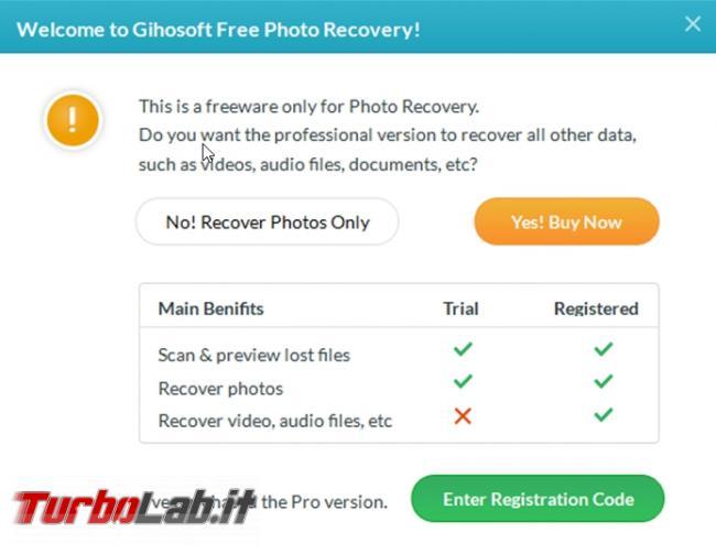 Come recuperare immagini cancellate RePicvid Free Photo Recovery