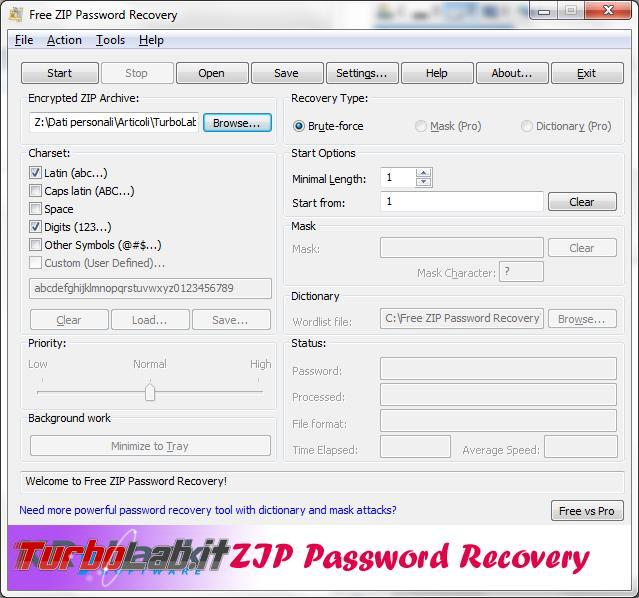 Come recuperare password dimenticate archivi rar zip
