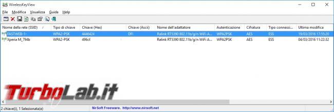 Come recuperare password memorizzate ( dimenticate) reti Wi-Fi