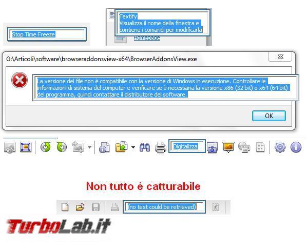 Come recuperare testo messaggi schermate Windows