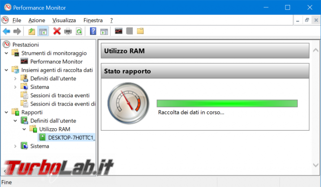 Come registrare consumo RAM PC / notebook Windows 10 (log uso RAM) - zShotVM_1555148404