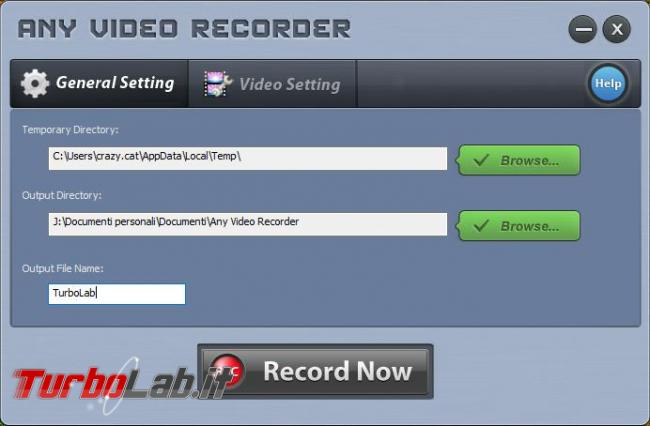 Come registrare video desktop catturare streaming video siti Web