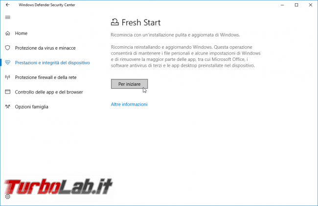 Come reinstallare Windows 10 automaticamente, senza perdere dati: guida Fresh Start