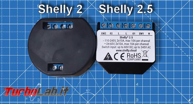 Come rendere smart impianto elettrico casa, parte seconda: Shelly 2.5