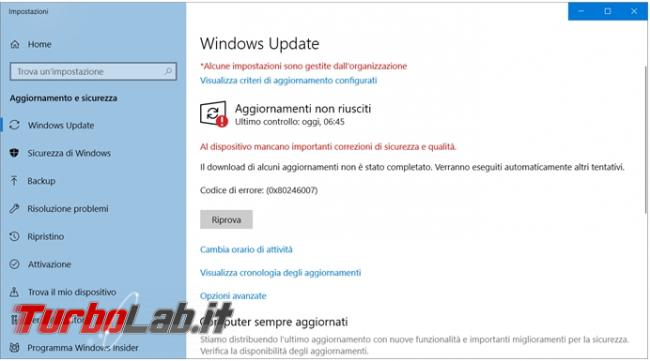 Come resettare componenti Windows Update quando smette funzionare non scarica aggiornamenti