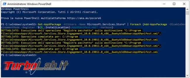 Come resettare Microsoft Store rimediare all'errore non specificato (0x8000ffff) quando si installano app