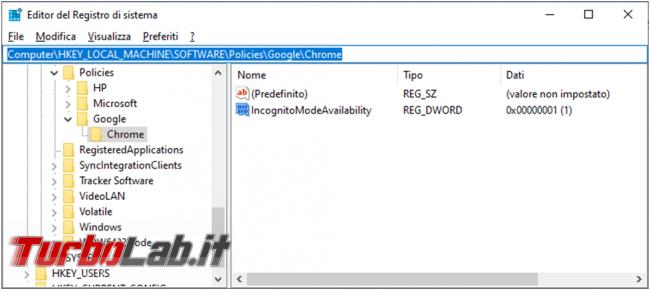 Come riattivare Modalità incognito Chrome
