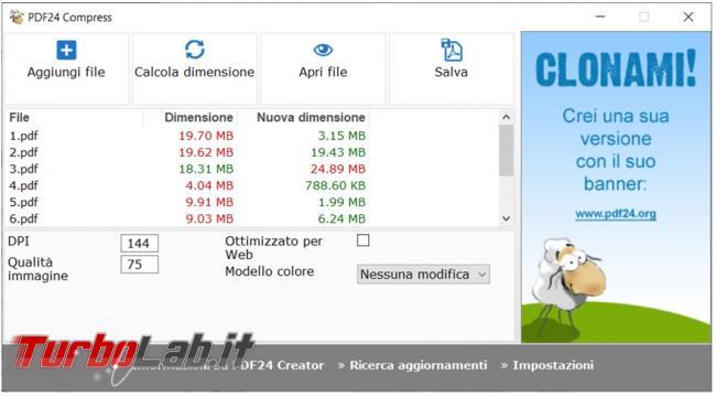 Come ridurre dimensioni file PDF senza perdere (troppa) qualità