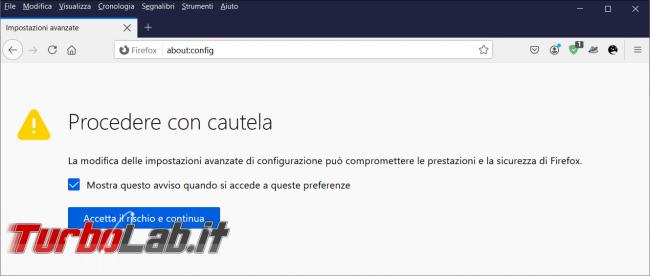 Come ridurre spazio preferiti Firefox 89