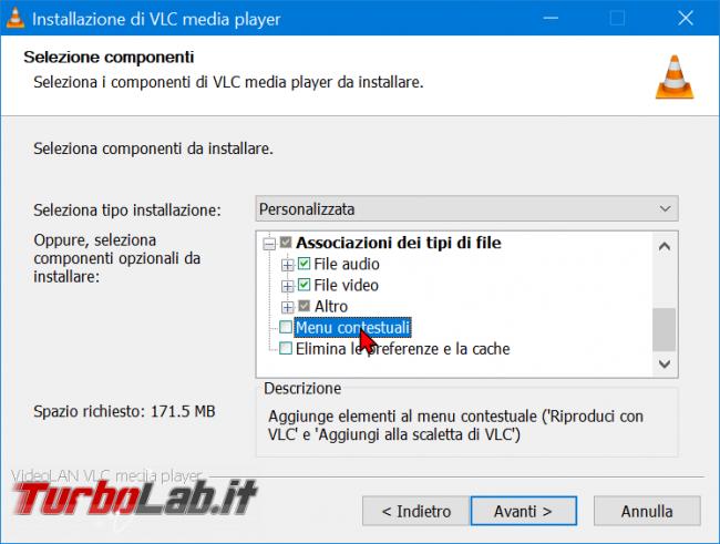 Come rimuovere comandi VLC menu contestuale Esplora file (tasto destro Windows 10) - zShotVM_1590224098