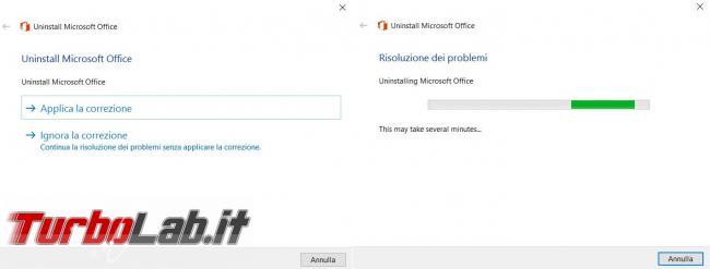 Come rimuovere completamente Microsoft Office computer