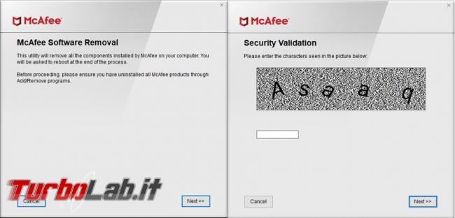 Come rimuovere completamente software sicurezza computer