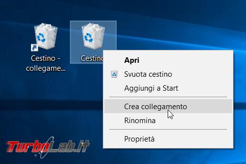 Come rimuovere/eliminare Cestino desktop Windows 10 ( aggiungerlo menu Start)