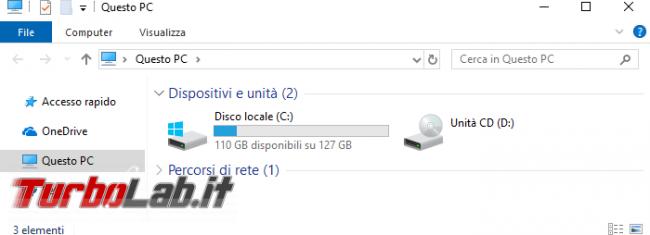 Come rimuovere, eliminare, nascondere Oggetti 3D altre cartelle Esplora file Windows 10 (Questo PC)